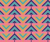 Modèle sans couture de vintage avec des triangles et des pixels Photos libres de droits