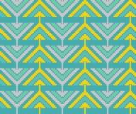Modèle sans couture de vintage avec des triangles et des pixels Photo stock