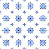 Modèle sans couture de vintage d'aquarelle de style bleu de Delft illustration stock