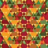 Modèle sans couture de vintage de triangles Image stock