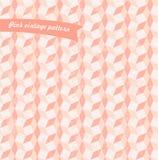 Modèle sans couture de vintage géométrique dans le rose en pastel  Image libre de droits