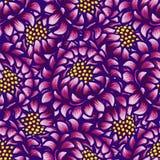 Modèle sans couture de vintage tiré par la main floral avec des fleurs Fleurs pourpres fabuleuses illustration libre de droits