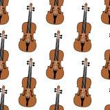 Modèle sans couture de violon de contexte de musique Image stock