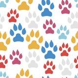 Modèle sans couture de voie de chien d'isolement sur le fond blanc illustration libre de droits