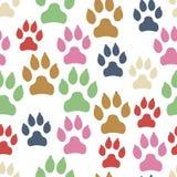 Modèle sans couture de voie de chien d'isolement sur le fond blanc illustration stock