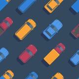 Modèle sans couture de voiture de vecteur Illustration plate de vue supérieure illustration libre de droits