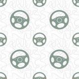 Modèle sans couture de volant de voiture Images libres de droits