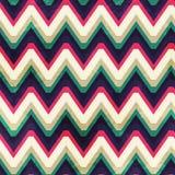 Modèle sans couture de zigzag de vintage avec l'effet grunge Photo stock