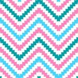 Modèle sans couture de zigzag tribal mignon Photo stock