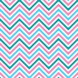 Modèle sans couture de zigzag tribal mignon Photos stock