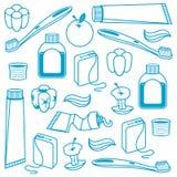 Modèle sans couture dentaire illustration stock