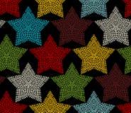 Modèle sans couture des étoiles de crochet Image stock