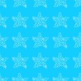 Modèle sans couture des étoiles de mer abstraites d'isolement sur le fond bleu illustration sans couture tir?e par la main contou illustration libre de droits