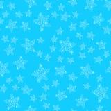 Modèle sans couture des étoiles de mer abstraites d'isolement sur le fond bleu illustration sans couture tir?e par la main contou illustration de vecteur