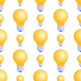 Modèle sans couture des ampoules sur le fond blanc illustration stock