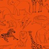 Modèle sans couture des animaux illustration stock