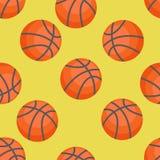 Modèle sans couture des basket-balls Basket-ball Illustration de Vecteur