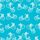 Modèle sans couture des bicyclettes d'enfants Photos stock