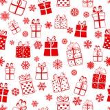 Modèle sans couture des boîte-cadeau Images stock