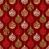 Modèle sans couture des boules de Noël Images stock