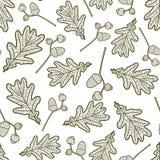 Modèle sans couture des branches avec des glands illustration stock