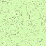 Modèle sans couture des branches d'arbre Photos libres de droits