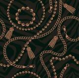 Modèle sans couture des chaînes dans le style baroque illustration libre de droits