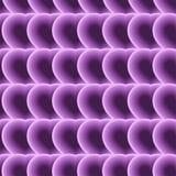 Modèle sans couture des coeurs pourpres psychédélique Illusion optique Illustration Stock