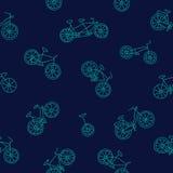 Modèle sans couture des différents vélos Image libre de droits