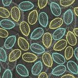 Modèle sans couture des feuilles abstraites Backgrou floral tiré par la main Image stock
