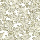 Modèle sans couture des feuilles de chêne illustration de vecteur
