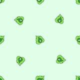 Modèle sans couture des feuilles stylisées photos stock
