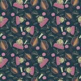 Modèle sans couture des fleurs abstraites Image libre de droits