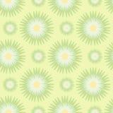 Modèle sans couture des fleurs stylisées dans des couleurs vert jaunâtre et olives Illustration de vecteur Photographie stock libre de droits