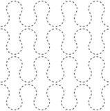 Modèle sans couture des fourmis de chemins illustration stock