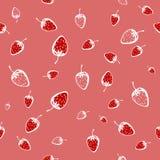 Modèle sans couture des fraises Photographie stock libre de droits