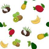 Modèle sans couture des fruits illustration libre de droits