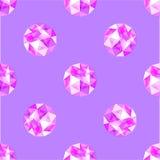 Modèle sans couture des gemmes pourpres réalistes d'améthyste Illustration de vecteur Photo libre de droits