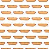 Modèle sans couture des hot-dogs illustration stock