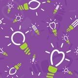 Modèle sans couture des lampes économiseuses d'énergie Photo libre de droits