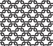 Modèle sans couture des liens sous la forme de trapèzes Image stock