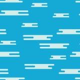 Modèle sans couture des nuages blancs plats sur un fond bleu Photographie stock