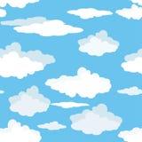 Modèle sans couture des nuages sur le ciel bleu illustration stock