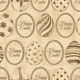 Modèle sans couture des oeufs de pâques de croquis illustration de vecteur