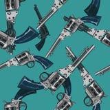 Modèle sans couture des pistolets illustration stock