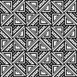Modèle sans couture des places et des triangles illustration stock