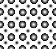 Modèle sans couture des points de noir de gradient illustration stock