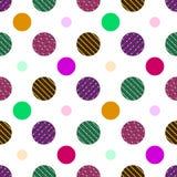 Modèle sans couture des points de polka avec les lignes rayées illustration libre de droits