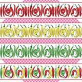 Modèle sans couture des poivrons de piments chauds Illustration de vecteur Image libre de droits