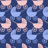 Modèle sans couture des poussettes de bébé Illustration Libre de Droits